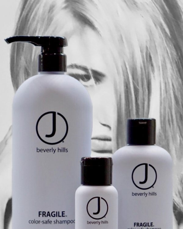 J beverly hills shampoo with model in background